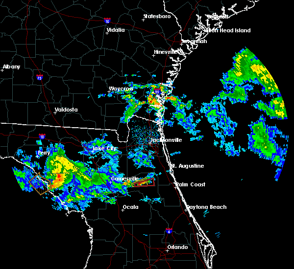 Radar Image for Severe Thunderstorms near East Palatka, FL at 4/14/2020 12:57 PM EDT