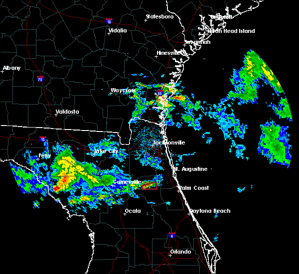 Radar Image for Severe Thunderstorms near East Palatka, FL at 4/14/2020 1:06 PM EDT