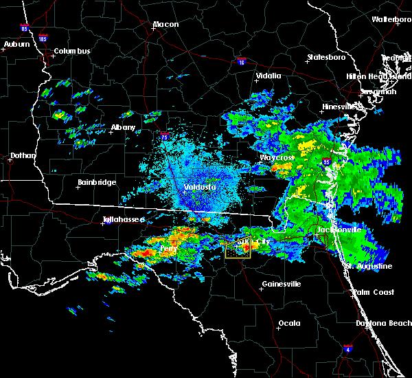 Radar Image for Severe Thunderstorms near Lake City, FL at 4/15/2020 3:25 AM EDT