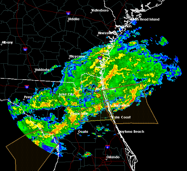 Radar Image for Severe Thunderstorms near Flagler Estates, FL at 4/15/2020 1:05 PM EDT