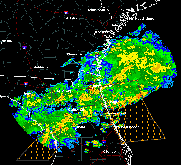 Radar Image for Severe Thunderstorms near Flagler Estates, FL at 4/15/2020 1:42 PM EDT