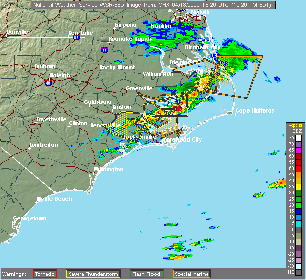 Radar Image for Severe Thunderstorms near Stonewall, NC at 4/18/2020 12:24 PM EDT