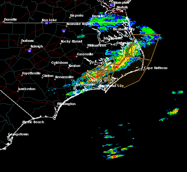 Radar Image for Severe Thunderstorms near Vandemere, NC at 4/18/2020 12:36 PM EDT
