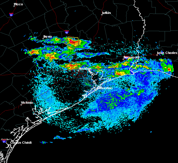 Radar Image for Severe Thunderstorms near New Waverly, TX at 4/18/2020 4:31 PM CDT