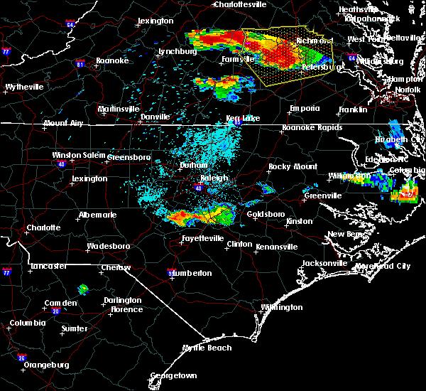 Radar Image for Severe Thunderstorms near Godwin, NC at 6/25/2015 10:15 PM EDT