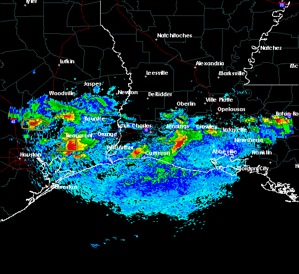 Radar Image for Severe Thunderstorms near Vidor, TX at 4/18/2020 6:15 PM CDT