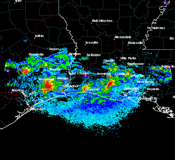Radar Image for Severe Thunderstorms near Vidor, TX at 4/18/2020 6:30 PM CDT