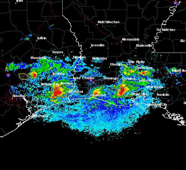 Radar Image for Severe Thunderstorms near Kaplan, LA at 4/18/2020 6:47 PM CDT