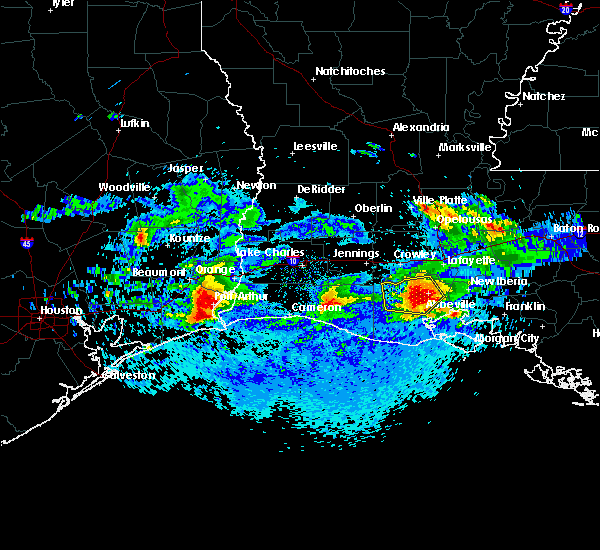 Radar Image for Severe Thunderstorms near Kaplan, LA at 4/18/2020 7:10 PM CDT