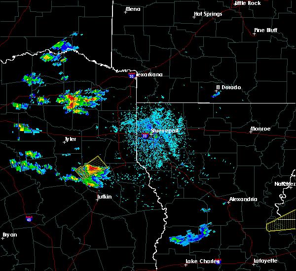 Radar Image for Severe Thunderstorms near Mount Enterprise, TX at 4/18/2020 8:19 PM CDT