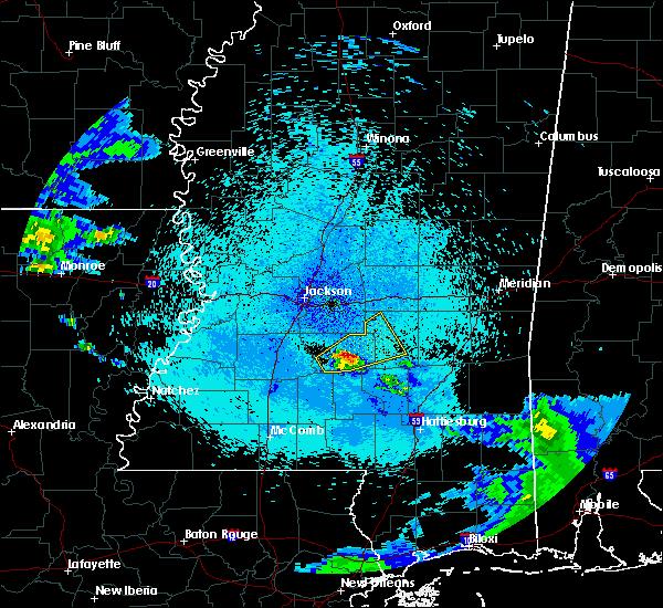 Radar Image for Severe Thunderstorms near Polkville, MS at 4/18/2020 11:42 PM CDT