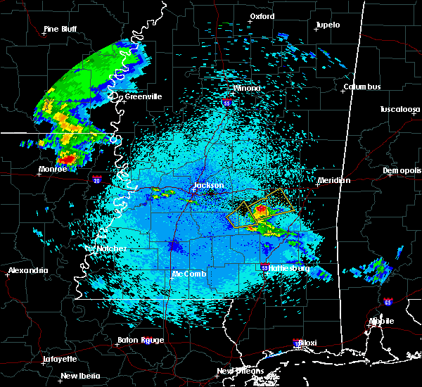 Radar Image for Severe Thunderstorms near Newton, MS at 4/19/2020 12:20 AM CDT