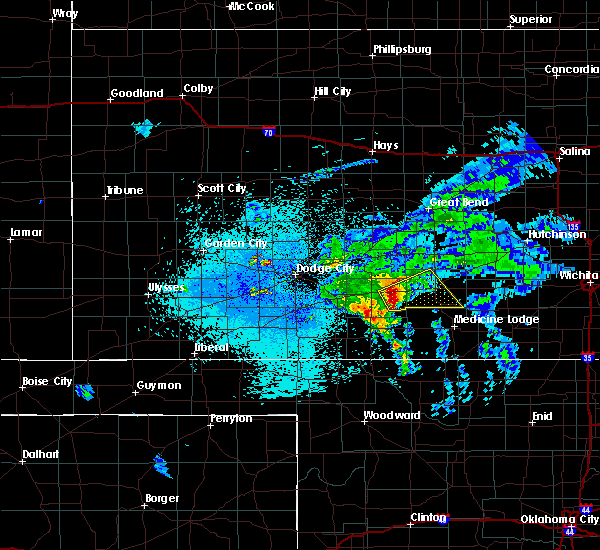 Radar Image for Severe Thunderstorms near Haviland, KS at 4/19/2020 12:24 AM CDT