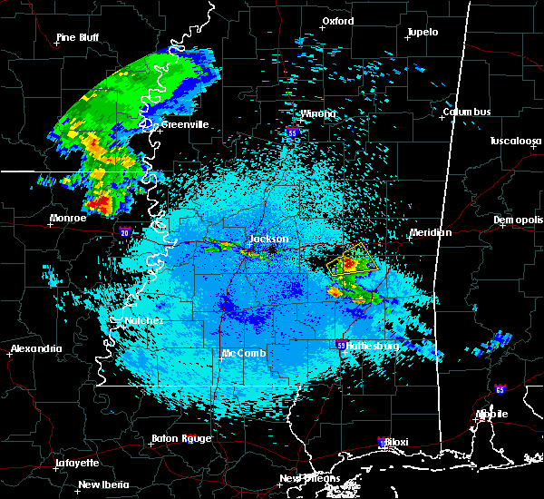 Radar Image for Severe Thunderstorms near Newton, MS at 4/19/2020 12:31 AM CDT