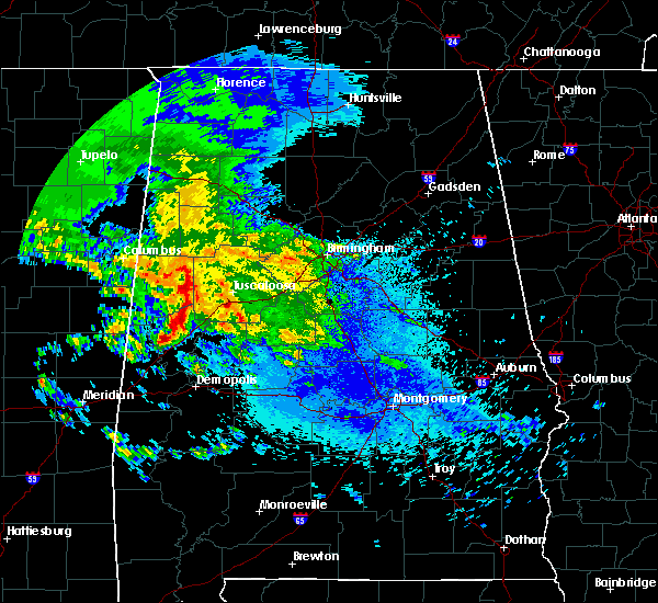Radar Image for Severe Thunderstorms near Brookwood, AL at 4/19/2020 4:56 AM CDT