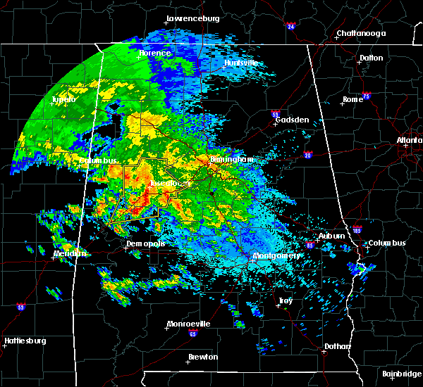Radar Image for Severe Thunderstorms near Brookwood, AL at 4/19/2020 5:13 AM CDT