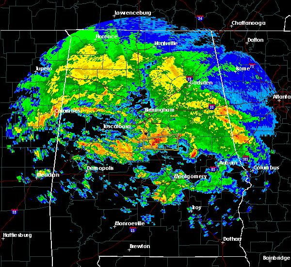 Radar Image for Severe Thunderstorms near Fayetteville, AL at 4/19/2020 6:38 AM CDT