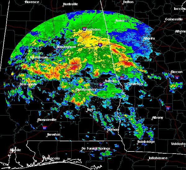 Radar Image for Severe Thunderstorms near Mount Olive, AL at 4/19/2020 6:49 AM CDT