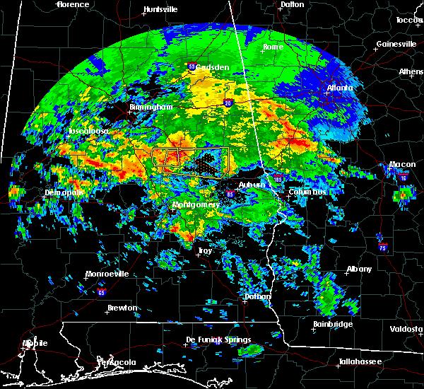 Radar Image for Severe Thunderstorms near Mount Olive, AL at 4/19/2020 6:56 AM CDT
