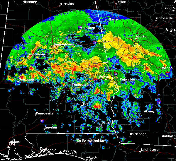 Radar Image for Severe Thunderstorms near Smiths Station, AL at 4/19/2020 7:41 AM CDT