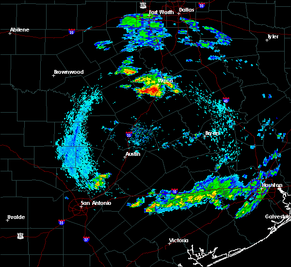 Radar Image for Severe Thunderstorms near McGregor, TX at 4/19/2020 7:45 AM CDT