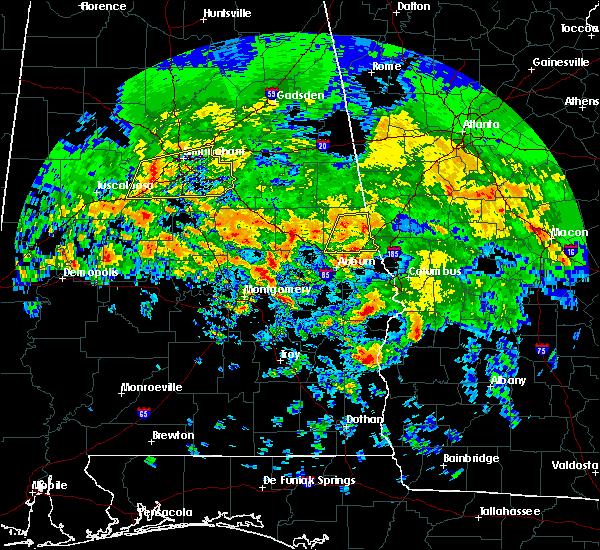 Radar Image for Severe Thunderstorms near La Fayette, AL at 4/19/2020 7:57 AM CDT