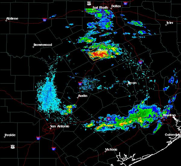 Radar Image for Severe Thunderstorms near McGregor, TX at 4/19/2020 8:00 AM CDT