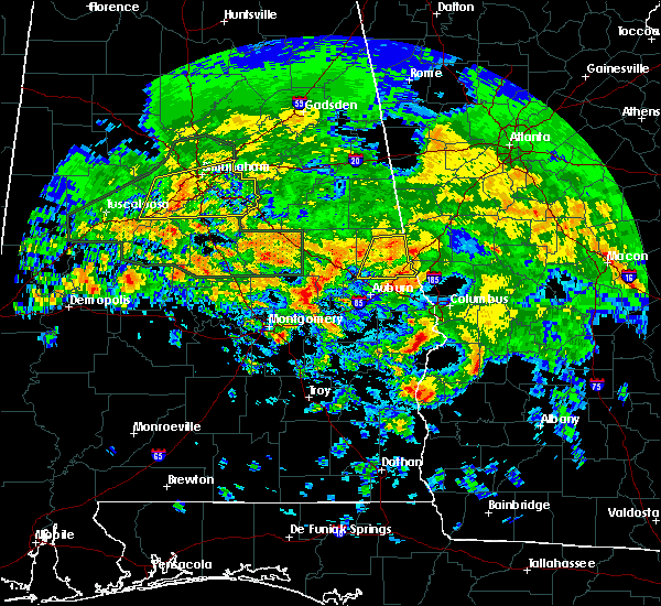 Radar Image for Severe Thunderstorms near La Fayette, AL at 4/19/2020 8:08 AM CDT