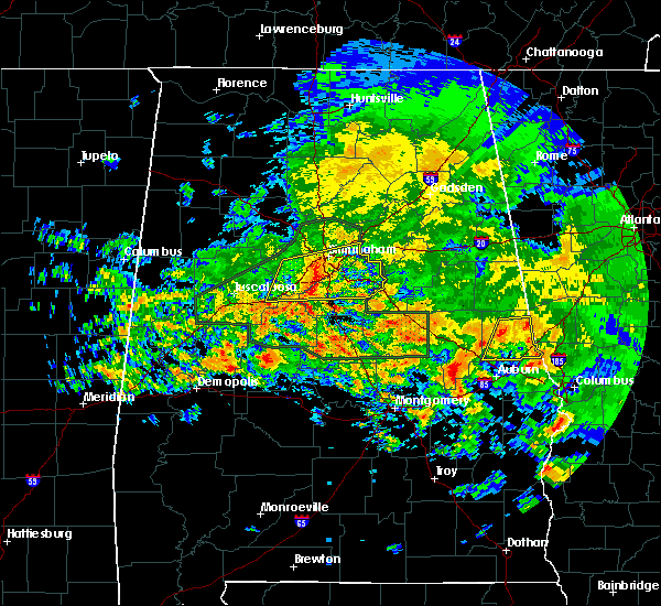 Radar Image for Severe Thunderstorms near Vincent, AL at 4/19/2020 8:12 AM CDT