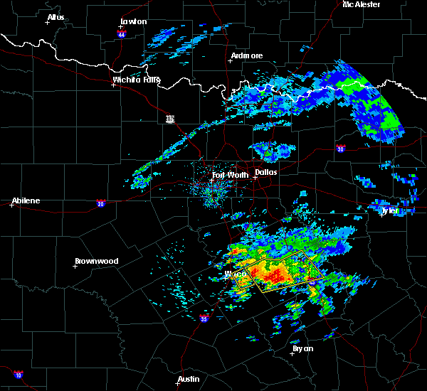 Radar Image for Severe Thunderstorms near Teague, TX at 4/19/2020 8:42 AM CDT