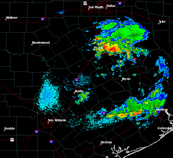 Radar Image for Severe Thunderstorms near Riesel, TX at 4/19/2020 8:43 AM CDT
