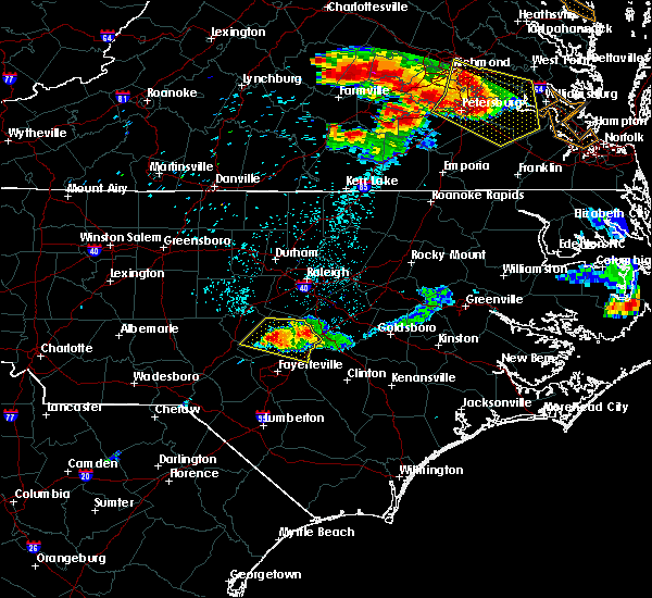 Radar Image for Severe Thunderstorms near Godwin, NC at 6/25/2015 10:39 PM EDT