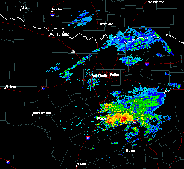 Radar Image for Severe Thunderstorms near Kirvin, TX at 4/19/2020 8:57 AM CDT