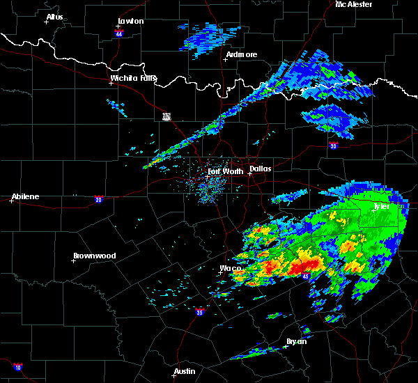 Radar Image for Severe Thunderstorms near Teague, TX at 4/19/2020 9:19 AM CDT