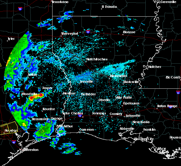 Radar Image for Severe Thunderstorms near Woodville, TX at 4/19/2020 9:30 AM CDT