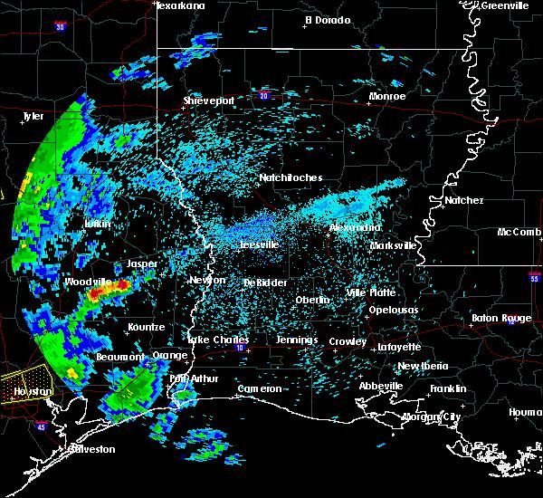 Radar Image for Severe Thunderstorms near Browndell, TX at 4/19/2020 9:30 AM CDT