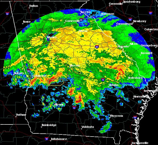 Radar Image for Severe Thunderstorms near Marshallville, GA at 4/19/2020 10:56 AM EDT