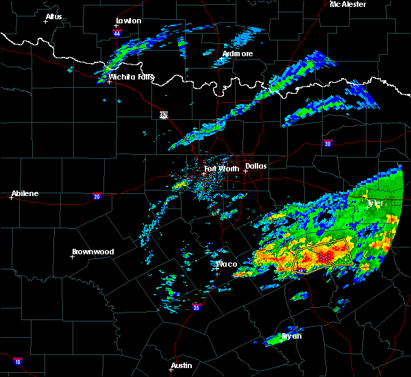 Radar Image for Severe Thunderstorms near Palestine, TX at 4/19/2020 9:56 AM CDT