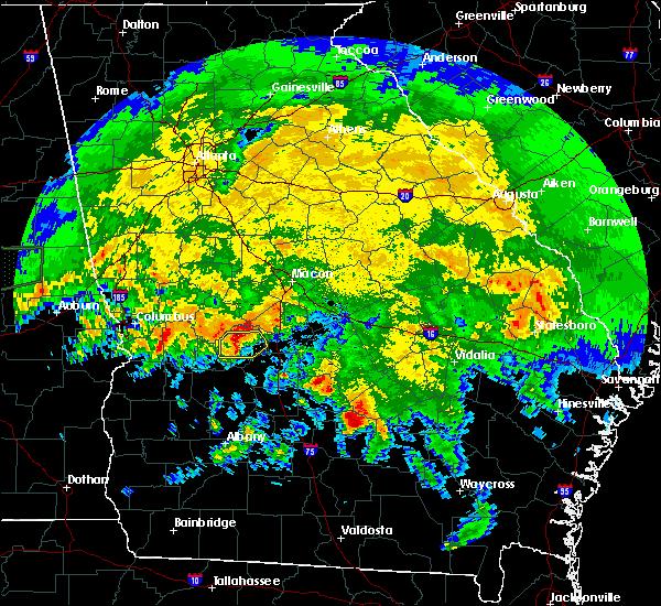 Radar Image for Severe Thunderstorms near Marshallville, GA at 4/19/2020 11:06 AM EDT