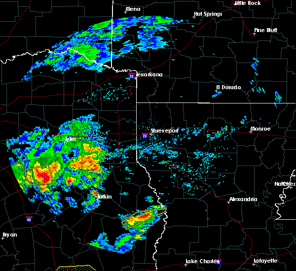 Radar Image for Severe Thunderstorms near Palestine, TX at 4/19/2020 10:08 AM CDT