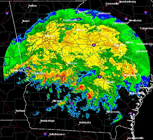 Radar Image for Severe Thunderstorms near Marshallville, GA at 4/19/2020 11:25 AM EDT