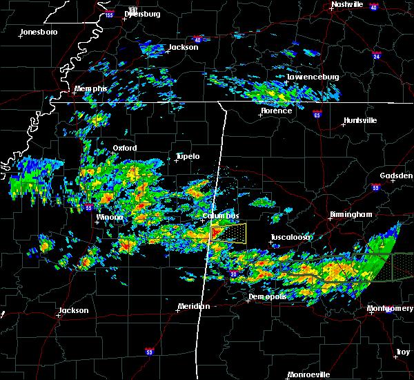 Radar Image for Severe Thunderstorms near Ethelsville, AL at 4/19/2020 10:48 AM CDT