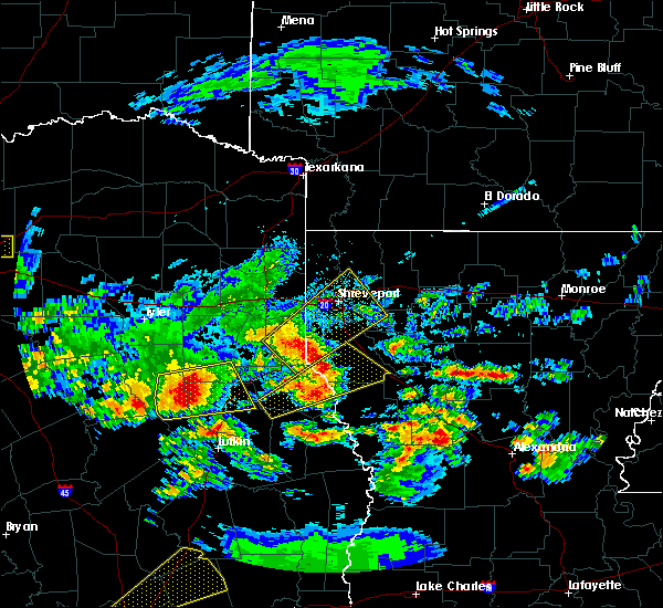 Radar Image for Severe Thunderstorms near Grand Cane, LA at 4/19/2020 10:56 AM CDT