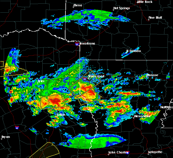 Radar Image for Severe Thunderstorms near Bryceland, LA at 4/19/2020 11:09 AM CDT