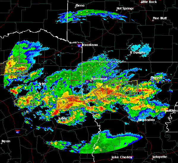 Radar Image for Severe Thunderstorms near Dodson, LA at 4/19/2020 11:43 AM CDT