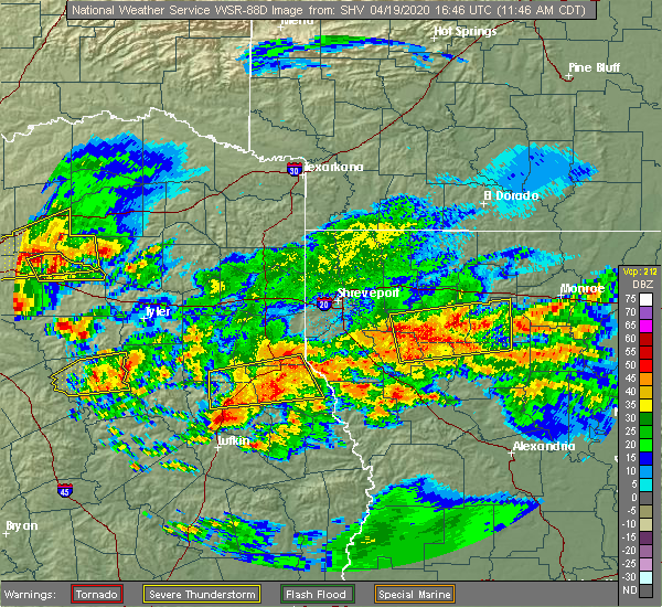 Radar Image for Severe Thunderstorms near Palestine, TX at 4/19/2020 11:52 AM CDT