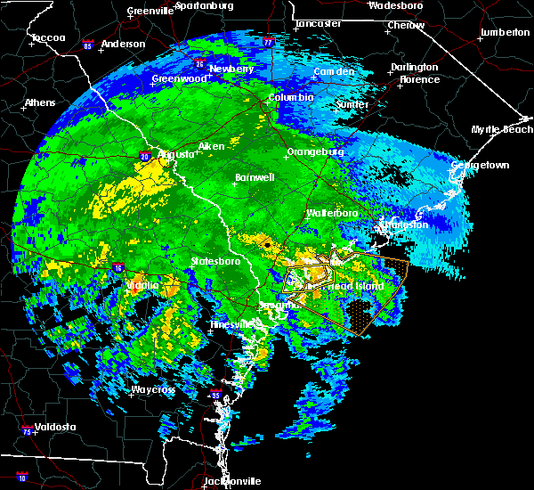 Radar Image for Severe Thunderstorms near Beaufort, SC at 4/19/2020 12:54 PM EDT
