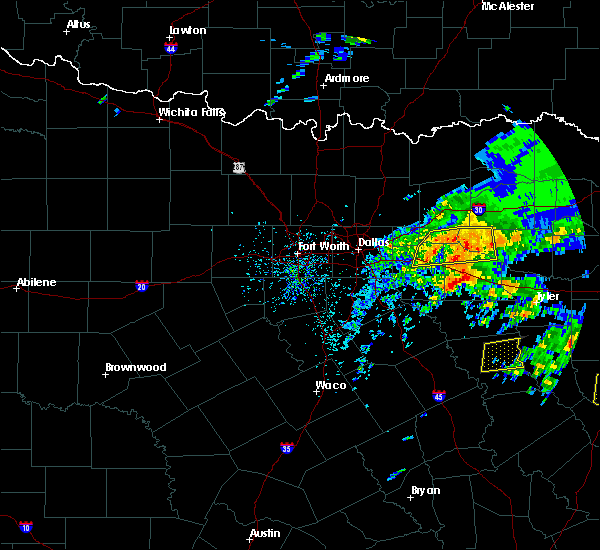 Radar Image for Severe Thunderstorms near Van, TX at 4/19/2020 12:15 PM CDT
