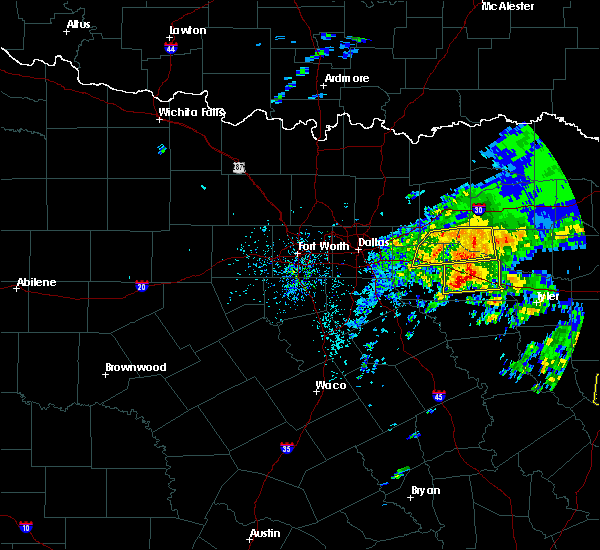 Radar Image for Severe Thunderstorms near Wills Point, TX at 4/19/2020 12:27 PM CDT
