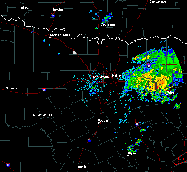 Radar Image for Severe Thunderstorms near Van, TX at 4/19/2020 12:48 PM CDT